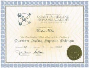 QHHT Level 1 certificate