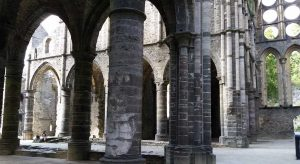 Ruined church at Abbaye Villers, Belgium
