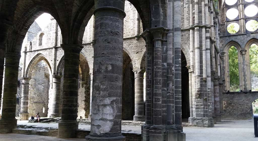 Ruined church at Abbaye Villers, Belgium